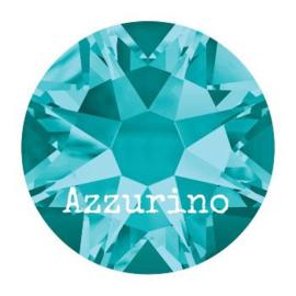 2028 plaksteen 4,8 mm / SS 20 blue zircon F (229)  p/50