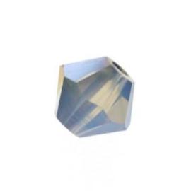 5328 biconische kraal 4 mm white opal star shine (234 STSH) p/50