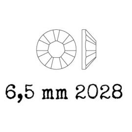 2028 plaksteen 6,5 mm / SS 30 Crystal Metallic Blue F (001 METBL) p/25
