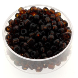 rocailles 6/0 donkerbruin  p/500 gram