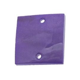 tussenzetsel schelp vierkant 2 gaatjes 17 x 17 mm paars  p/10