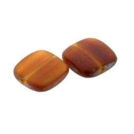 kraal golden horn vierkant 11 x 11 mm zakje +/- 25 stuks