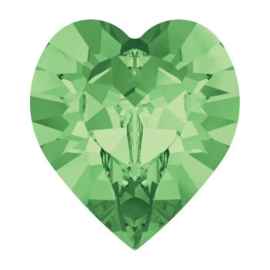 4800 Fancy Stone heart 6.6 x 6 mm peridot F (214) p/6