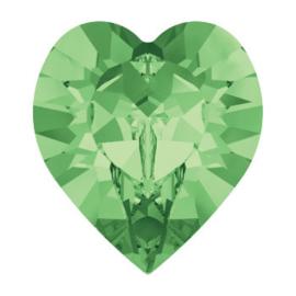 4800 Fancy Stone heart 11 x 10 mm peridot F (214) p/6