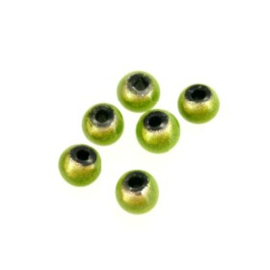 kraal 4 mm supershiny lime (neon groen) p/500