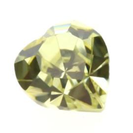 4800 Fancy Stone heart 11 x 10 mm jonquil (213) p/6