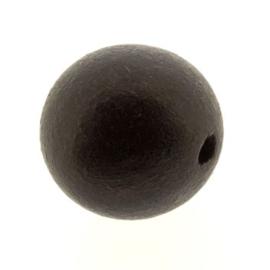 kraal hout 20mm rond zwart hout p/10