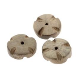 kraal hout 6x15 mm bloem greywood p/20