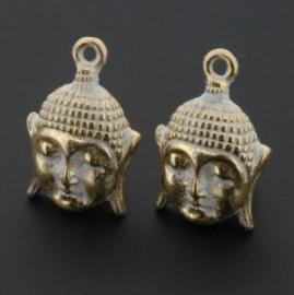 Decoratieve hanger buddha klein Goud Zilver 18 x 12 mm p/10