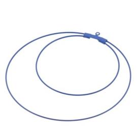 oorbel ornament dubbel 60mm p/6 paar blauw