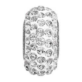 81101 BeCharmed Pavé slim Bead Crystal (001) 13,5 mm