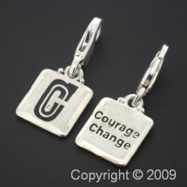 bedel click-on  letter C courage 27 x 12 mm p/6