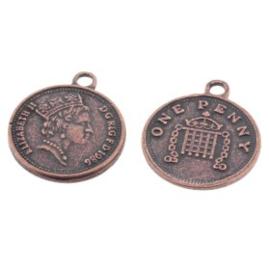 hanger munt 1 penny MAC 15mm p/12