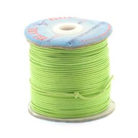 waxkoord 1.5 mm rol p/100 meter groen