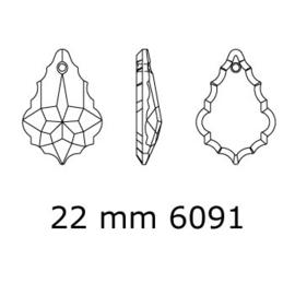 6090 Baroque hanger 22 x 15 mm crystal (001) p/2
