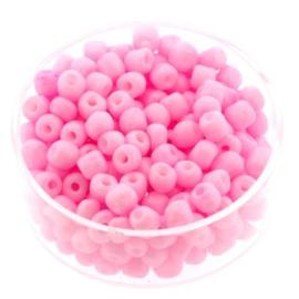 rocailles 6/0 mat roze p/500 gram