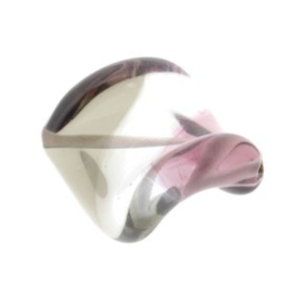 glaskraal twist 25 x 20 mm handgemaakt paars
