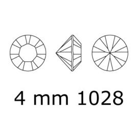 1028 Xilion Chaton puntsteen 4,00 mm / PP 32 white alabaster Satin F (281 SAT) p/50