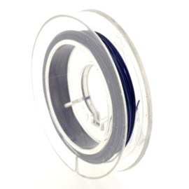 staaldraad 0.38mm nyloncoated donker blauw p/6 mtr p/5 rolletjes