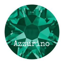 2028 plaksteen 3,2 mm / SS12 emerald F (205) p/50