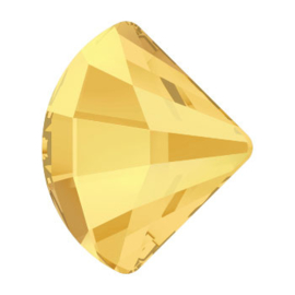 2714 plaksteen Fan FB 10mm Crystal Metallic Sunshine F (001 METSH) p/6