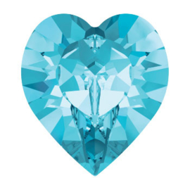 4800 Fancy Stone heart 11 x 10 mm aquamarine F (202) p/6