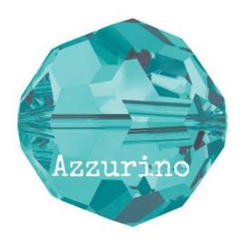 5000 kraal rond facet 8 mm blue zircon (229) p/12