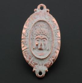 decoratief ornament ovaal buddha 2 ogen Champagne p/3