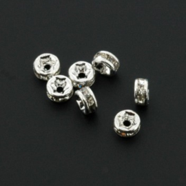 strass rondell 4 mm spl crystal p/25