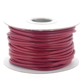 Soft waxkoord / slangenkoord 4mm p/20 meter rood