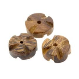 kraal hout 6x15 mm bloem robles wood p/20