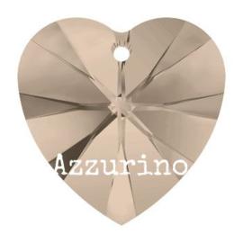 6228 Xilion heart pendant 18 x 17,5 mm greige (284) p/2