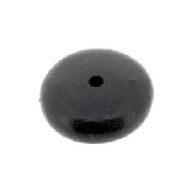 kraal hout disc 25x10mm zwart p/10