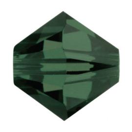 5328 biconische kraal 4 mm turmaline (373) p/50
