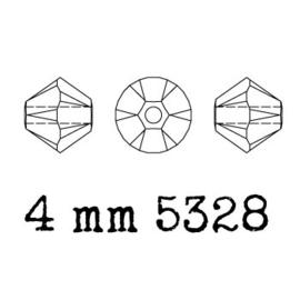5328 biconische kraal 4 mm mint alabaster (397) p/50