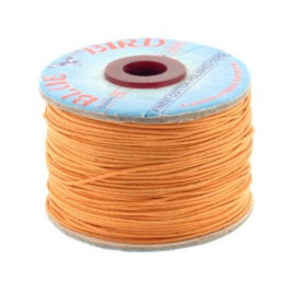 waxkoord 1.0 mm rol p/100 meter oranje
