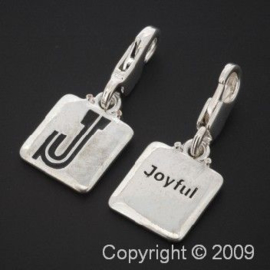 bedel click-on  letter J  joyful 27 x 12 mm p/6