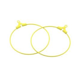 oorbel ornament 30mm p/6 paar geel