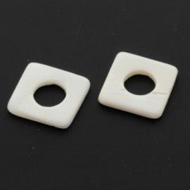 schelp onderdeel 10 x 10 mm naturel p/20