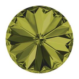 1122 rivoli 12mm puntsteen olivine F (228) p/6