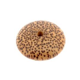 kraal hout disc 25x10mm palmhout p/10