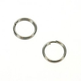 splitring / d-ring 8 mm Rhodium p/100