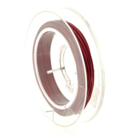 staaldraad 0.38mm nyloncoated rood p/6 mtr p/5 rolletjes