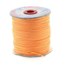 waxkoord 1.5 mm rol p/100 meter oranje
