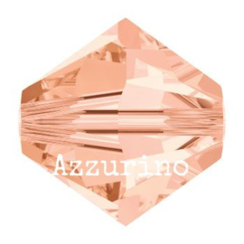 5328 biconische kraal 8 mm light peach (362) p/12