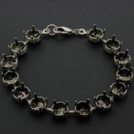 cupchain armband voor ss 39 Swarovski stenen 17 cm (14 cups) NMAS p/2