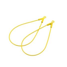 oorbel ornament druppel 46x22 mm p/6 paar oker geel