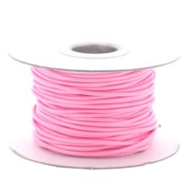 Soft waxkoord / slangenkoord 2mm p/30 meter licht roze