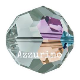 5000 kraal rond facet 5 mm black diamond AB (215 AB) p/20