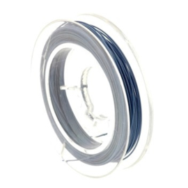 staaldraad 0.38mm nyloncoated blauw p/10 mtr p/5 rolletjes